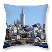 San Francisco Panorama Throw Pillow