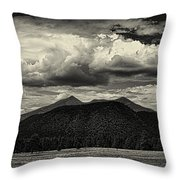 San Francisco Peaks In Black And White Throw Pillow