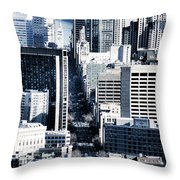 San Francisco Skyline-grunge Throw Pillow