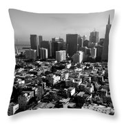 San Francisco Throw Pillow by Valeria Donaldson
