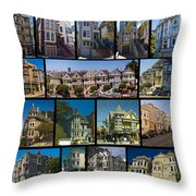 San Francisco Victorians 2 Throw Pillow