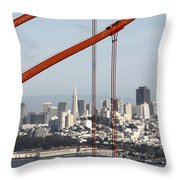 San Francisco Through The Cables Throw Pillow