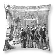 San Fransisco Hotel, 1878 Throw Pillow