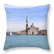 San Giorgio Maggiore Throw Pillow by Joana Kruse