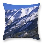 San Juan Mountains Covered In Snow Throw Pillow