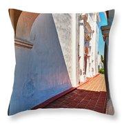 San Luis Rey Courtyard Throw Pillow