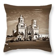 San Xavier Del Bac Mission Throw Pillow