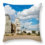 San Xavier Mission Tucson Az  Throw Pillow