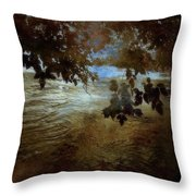 Sanctuary By The River Throw Pillow