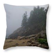 Sand Beech In A Fog Throw Pillow