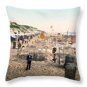 Sand Castles, C1895 Throw Pillow