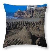 Sand Dolphin Throw Pillow