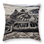 Sand Dragon Sculputure Throw Pillow