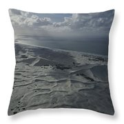 Sand Dune Complex Along The Shore Throw Pillow