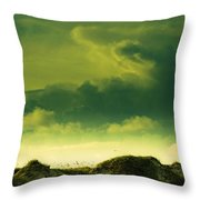 Sand Dunes And Clouds Throw Pillow by Marilyn Hunt