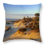 Sand Dunes At Sunset, Lake Huron Throw Pillow