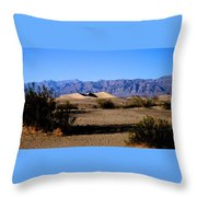 Sand Dunes In Death Valley Throw Pillow