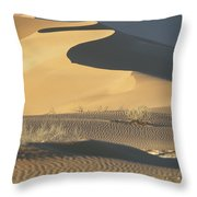 Sand Dunes In Namib Desert Throw Pillow