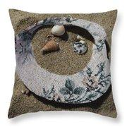 Sand On A Half Shell Throw Pillow