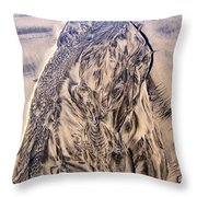 Sand Painting 55 Throw Pillow