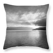 Sand Point Black And White  Throw Pillow