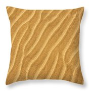 Sand Ripples Abstract Throw Pillow