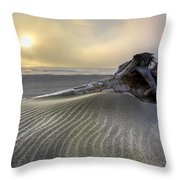 Sand Wrinkles Throw Pillow