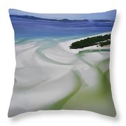 Sandbars Create An Interesting Pattern Throw Pillow