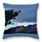 Sandia Mountains At Sunset Throw Pillow