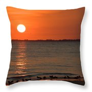 Sandpipers At Sundown Throw Pillow