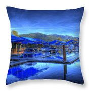 Sandpoint Marina And Power House 1 Throw Pillow