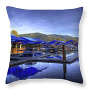 Sandpoint Marina And Power House 2 Throw Pillow