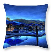 Sandpoint Marina And Power House 3 Throw Pillow