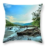 Sandstone At New River Throw Pillow