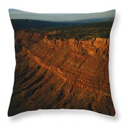 Sandstone-capped Escarpment Throw Pillow
