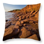 Sandstone Cliffs, Cape Turner, Prince Throw Pillow by John Sylvester