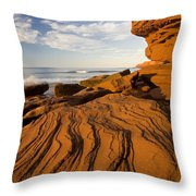 Sandstone Cliffs, Cavendish, Prince Throw Pillow