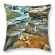 Sandstone Falls In The New River Throw Pillow