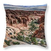 Sandstone Fins Of Arches National Park Throw Pillow
