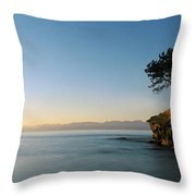 Sandstone Islet Near Silva Bay Throw Pillow