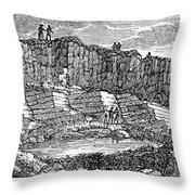 Sandstone Quarry, 1840 Throw Pillow