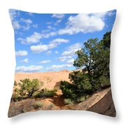 Sandstone Sky Throw Pillow