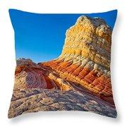 Sandstone Swirls Arizona Throw Pillow