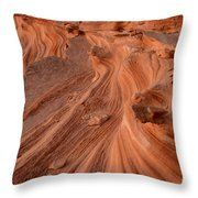 Sandstone Waves Little Finland Throw Pillow