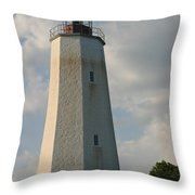 Sandy Hook Lighthouse 2 Throw Pillow