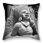Sandy Jazz Singer Throw Pillow
