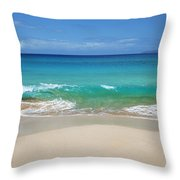 Sandy Makena Beach Throw Pillow