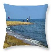 Sandy Point Fisherman Throw Pillow