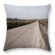 Sandy Road Throw Pillow