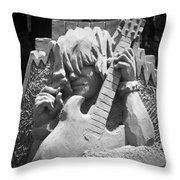 Sandy Rock Musician Throw Pillow